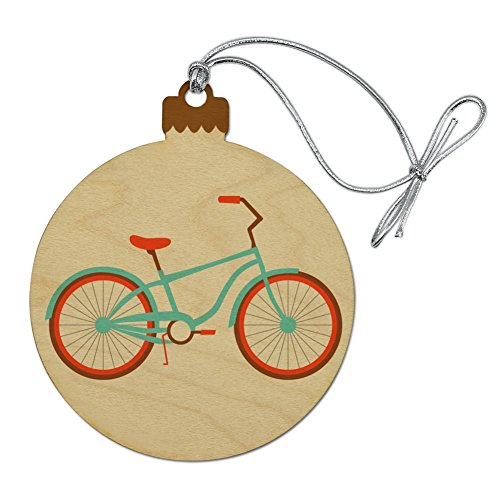 Graphics and More Bicycle Bike Cycling Cycle Wood Christmas Tree Holiday Ornament (Ornament Holiday Bicycle)