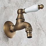 YanCui@ European antique copper 4 thickened cold ceramic handle washing machine tap
