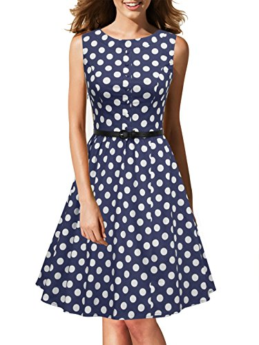 iLover Women's Retro 60's Vintage Rockabilly Cocktail Party Swing Dress
