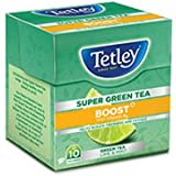 Tetley Super Green Tea, Boost, 10 Tea Bags