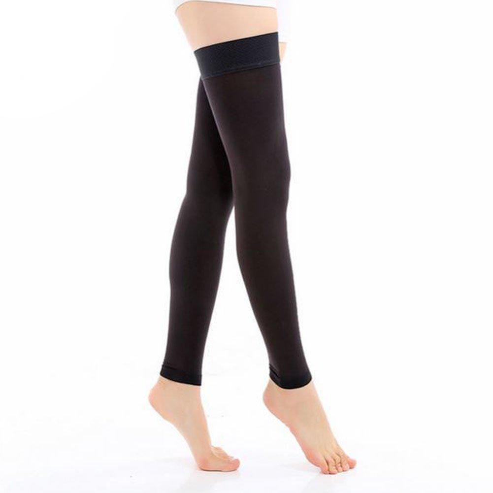 e6d5e9cddf2329 Amazon.com: Women's Medical Compression Stockings 20-30mmHg Thigh High  Footless Overnight Compression Socks for Varicose Veins, Pregnancy,  Nursing, ...