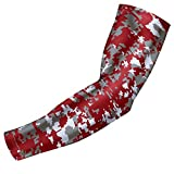 Sports Compression Arm Sleeve - Youth & Adult Sizes - Baseball Football Basketball by Bucwild Sports (1 Arm Sleeve - Maroon Camo - Youth Small)