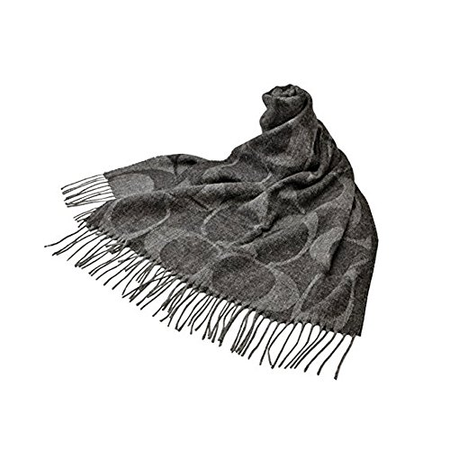 COACH WOMEN SIGNATURE C MUFFLER WOOL SCARF F77673 ()