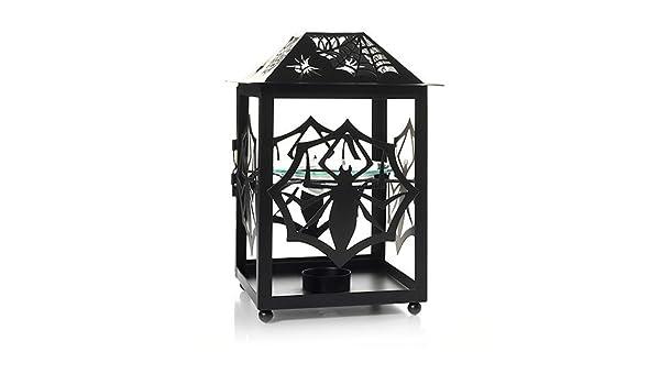Yankee Candle~Spider Web Glass Hanging Lantern Wax Tart Warmer~Burner~Halloween