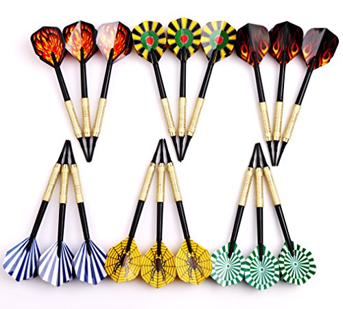 Dart Board Package - MAXMAU 18 pcs of Soft Tip Darts 10g Slim for Electronic Dartboard