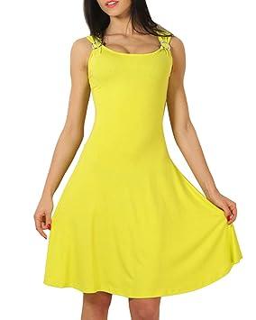 Vestido Para Mujer Vestidos Sin Mangas Bodycon Vestidos Fiesta Beachwear Vestido De Playa Verano Amarillo S