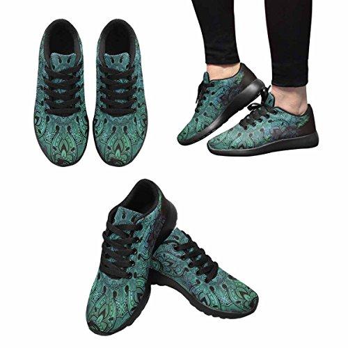 Interestprint Kvinna Trail Löparskor Jogging Lätta Sport Gå Atletiska Sneakers Handritad Paisley Mandala Multi 1