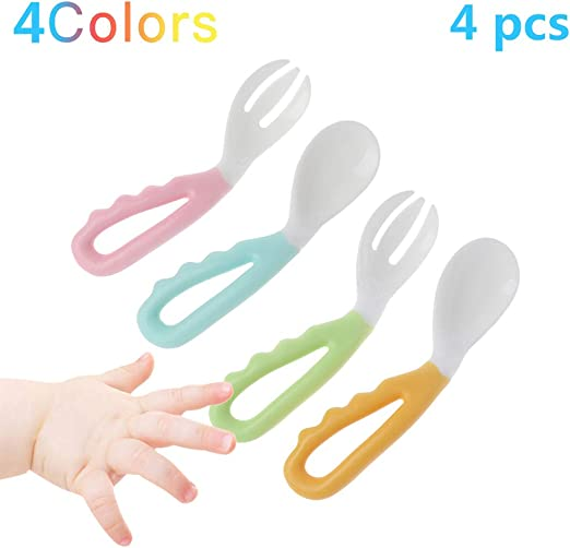 Conjunto de cuchara y tenedor para bebé, arnés para niños fácil de ...