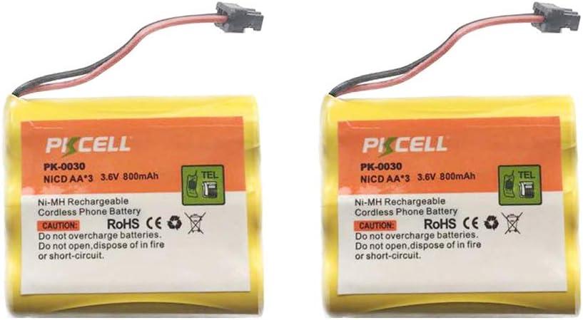 Cordless Phone BT905 BT-905 Replacement Battery 3.6V NI-CD AA 800mAh 2Pack