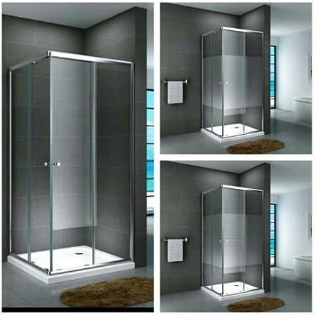 Cabina de ducha esquina ducha templado de mampara ducha Taza de cristal ducha cuadrado esquina. Completo ducha puerta corredera transparente cristal Leche Cristal Satinado duchas Puerta de ducha Ducha Taza cristal de