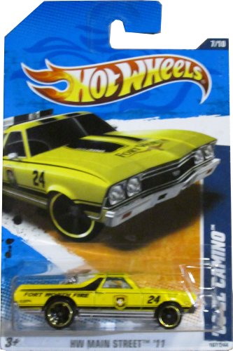 Hot Wheels 2011 Hot Wheels HW Main Street Fort Worth Fire '68 El Camino Yellow - Fort Worth Stores