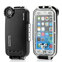 HolaFoto MEIKON 40m 130ft Rated Dive Professional Submersible Underwater Photo Video Camera Waterproof Photo Housing Diving Swimming Skin Protective Case Cover for Apple iPhone 6 Plus 5.5""