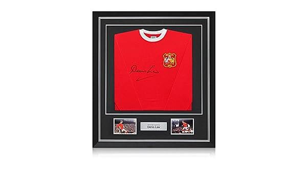 exclusivememorabilia.com Denis Law Firmado Manchester United FA 1963 del fútbol Recopa camiseta, de lujo enmarcado con incrustaciones de plata: Amazon.es: ...
