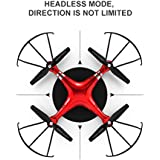 KXN SH5 FPV RC Drone with HD Camera Wi-Fi Live Video 2.4GHz 6-Axis Gyro Quadcopter for Kids & Beginners - Altitude Hold Headless Mode (Red)
