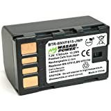 Wasabi Power Battery for JVC BN-VF815 and JVC Everio GC-PX10, GC-PX100, GS-TD1, GZ-HD300, GZ-HD320, GZ-HM1, GZ-HM200, GZ-HM400, GZ-MG630, GZ-MG650, GZ-MG670, GZ-MG680, GZ-MS120, GZ-MS130