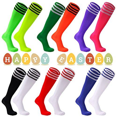Soccer Socks, FOOTPLUS Unisex Knee High Triple Stripe Football Socks, 2/6/10 Pairs – DiZiSports Store