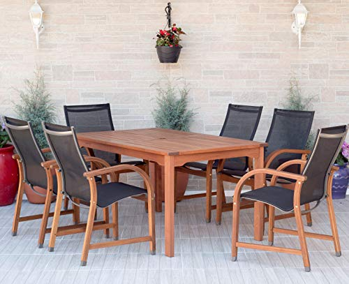 Amazonia Bahamas 7-Piece Outdoor Rectangular Dining Set |Ideal for patio, backyard and...
