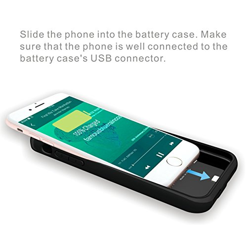 iPhone 7 clever Battery CaseSupport Lightning to Lightning Earphone Microphone extremely skinny easily transportable mobile or easily transportable power3000mAh Charging case for iPhone 747 inchExtended Battery Pack juice Bank Cover External Battery Packs