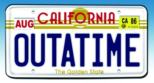Back to the Future Outatime License Plate - Frames Warehouse