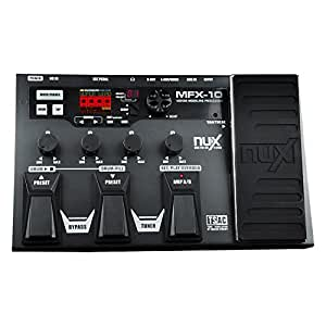 nux mfx 10 multi effects processor guitar pedal 55 effect types aux in lcd. Black Bedroom Furniture Sets. Home Design Ideas