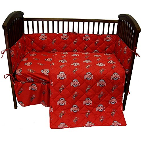 Ohio State Buckeyes Baby Crib Set (Bedding Ohio State Crib)