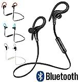 Merlin® Sports Bluetooth Earphone Wireless Headphone Earbuds Hand Free Headset (Black)
