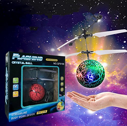 Remote Control Flying Ball, Led Lighting Flash Infrared Induction Fly Ball Helicopter Aircraft For Kids Children Frisbee Catapult Shooting Game Colorful Flyings Toys (Handheld Learning Remote)