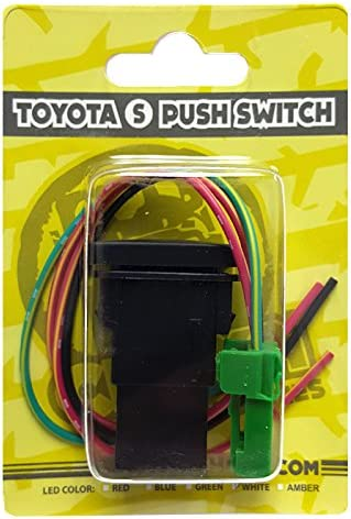 Biohazard Lights Symbol Red LED CH4X4 Small Push Switch for Toyota