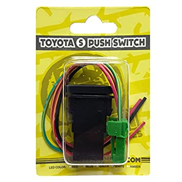 White LED CH4X4 Small Push Switch for Toyota Spot Lights Symbol