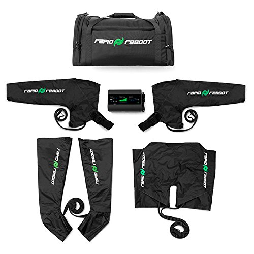 Rapid Reboot Complete Package: Compression Boot, Arm, Hip, Pump, Duffel. Sequential air Compression Therapy for Improved Circulation and Workout Recovery for Athletes (L Boots, LRG Hips, REG arms)