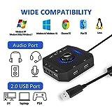 PHOINIKAS External Sound Card, USB Audio Adapter