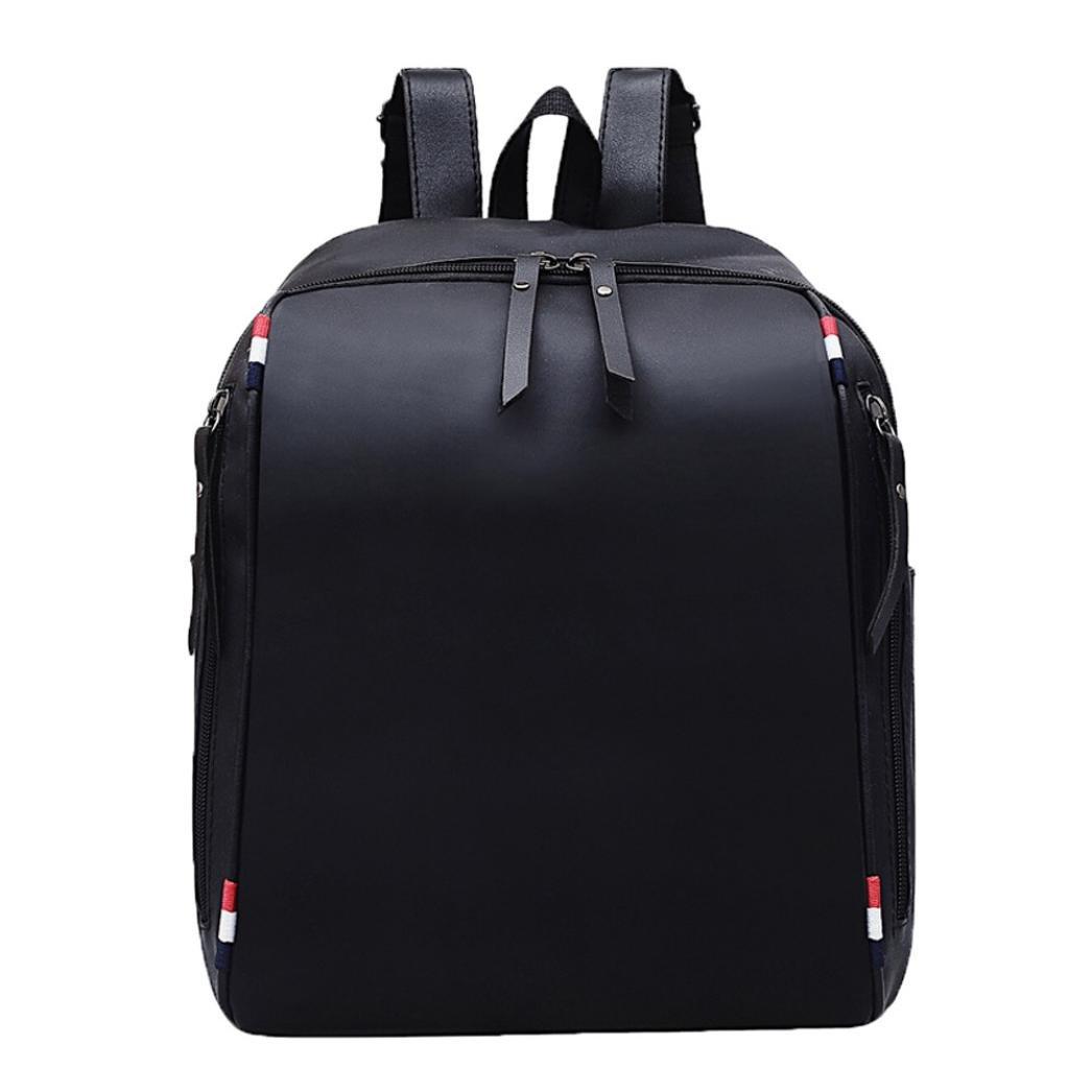 Amazon.com  GREFER Women Girl Leather Backpack Student Satchel Travel  School Rucksack Bag (Black-3)  Garden   Outdoor b36df718ce980