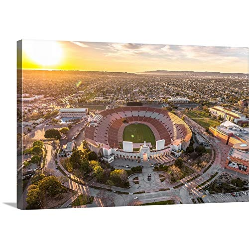 GREATBIGCANVAS Gallery-Wrapped Canvas Entitled Aerial View of Los Angeles Memorial Coliseum, California by Copterpilot Photography 30