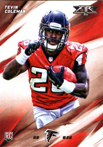2015 Topps Fire Rookie #48 Tevin Coleman Atlanta Falcons Football Rookie Card in Protective Screwdown Display Case