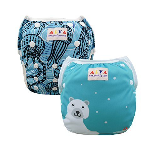 ALVABABY Diapers Reuseable Washable months