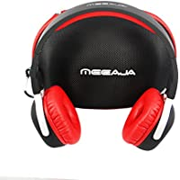 Maxmore(Meeaja) Ultralight Sport Sweat-proof Wireless Bluetooth V4.1 On Ear Foldable Headphone with Mic, Pedometer Function and NFC Function, Red