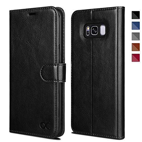 OCASE Samsung Galaxy S8 Plus Case, S8 Plus Wallet Case [TPU Shockproof Interior Protective Case] [Card Slot] [Kickstand] [Magnetic Closure] Leather Flip Case for Samsung Galaxy S8 Plus (Black)