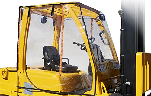 Atrium by Eevelle Full Forklift Cab Enclosure - Extra Large Fits 12,000 lbs+ by Atrium Forklift Enclosures