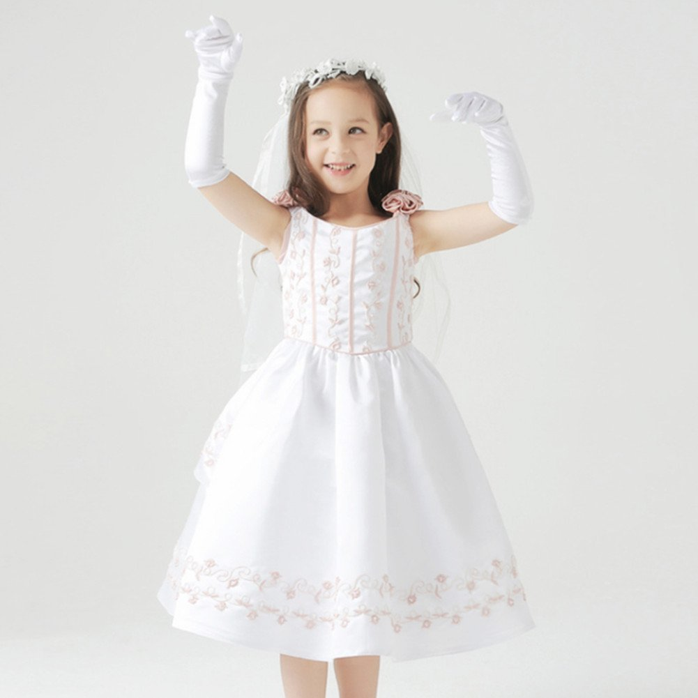 4-7 a/ños Weimay Length Guantes para ni/ñas Princess Princess