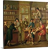 Italian School Gallery-Wrapped Canvas entitled Interior of a Pharmacy