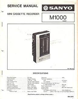 sanyo m1000 mini cassette recorder service manual sanyo electric rh amazon com Digital Voice Recorder VN-7100 Manual Olympus Digital Voice Recorder Manual