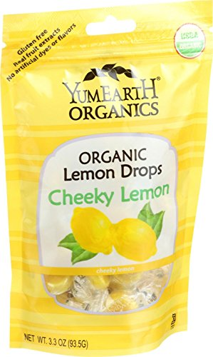 YumEarth Organics Lemon Drops - Cheeky Lemon - 3.3 oz - Case of 6 - 95%+ Organic - Gluten Free - Vegan - Real Fruit Extracts by YummyEarth