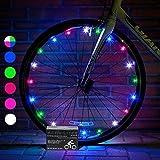 Activ Life LED Bicycle Wheel Lights (1 Tire, Rainbow) Best Xmas Gifts for Kids - Top Secret Santa X-mas of 2018 Popular Children Bike Toys - Hot Child Bday Party Outdoor Family Fun Regalos de Navidad