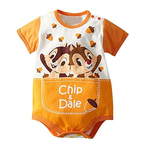 NUWFOR Baby Cute Jumpsuits Disney Short Sleeve Boys Girls Bodysuit Cartoon Rompers?Orange,6-12Months ()