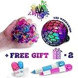 Led Anti Stress Ball - Squishy Light up Ball - Anti Stress Toys - Toys for Kids - Mesh Stress Ball - Grape Ball - DNA Ball - Prime Toys - Slime Stress Ball - ADHD Fidget Toys - BONUS 2 FUNNY PENS