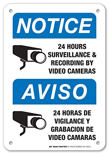 (24 Hours Surveillance Sign - 10