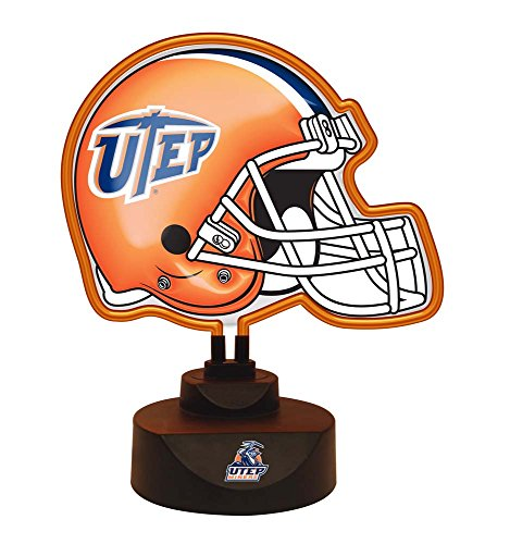 NCAA University of Texas at El Paso Official Neon Helmet Lamp, Multicolor, One Size by The Memory Company