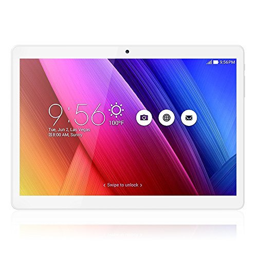 10.1 Inch Tablet PC Unlocked 3G Phone, Android 6.0 MTK 6580 GPS Quad Core ,HD 1280X800 IPS TouchScreen with Bluetooth ,RAM 1GB ROM 16GB Dual Sim Card Support 2G 3G Wifi Dual Camera ,Gold by Wecool