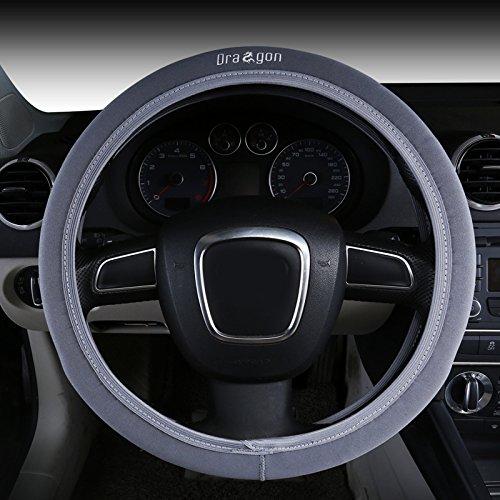 Raysell Soft Spandex Fabric Dragon Elastic Anti Slip Car Steering Wheel Cover