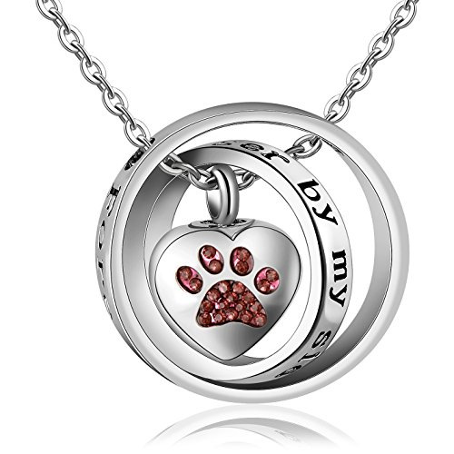 Meice Locket Ashes urn Necklace for mom&dad&Grandpa&Grandma&Uncle&Aunt no Longer by My Side Forever in My Heart Memorial Keepsake Jewelry (Animal)